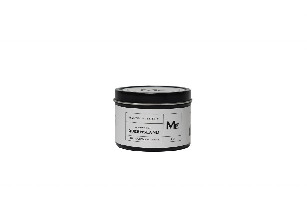 Melted Element Queensland Travel Candle White
