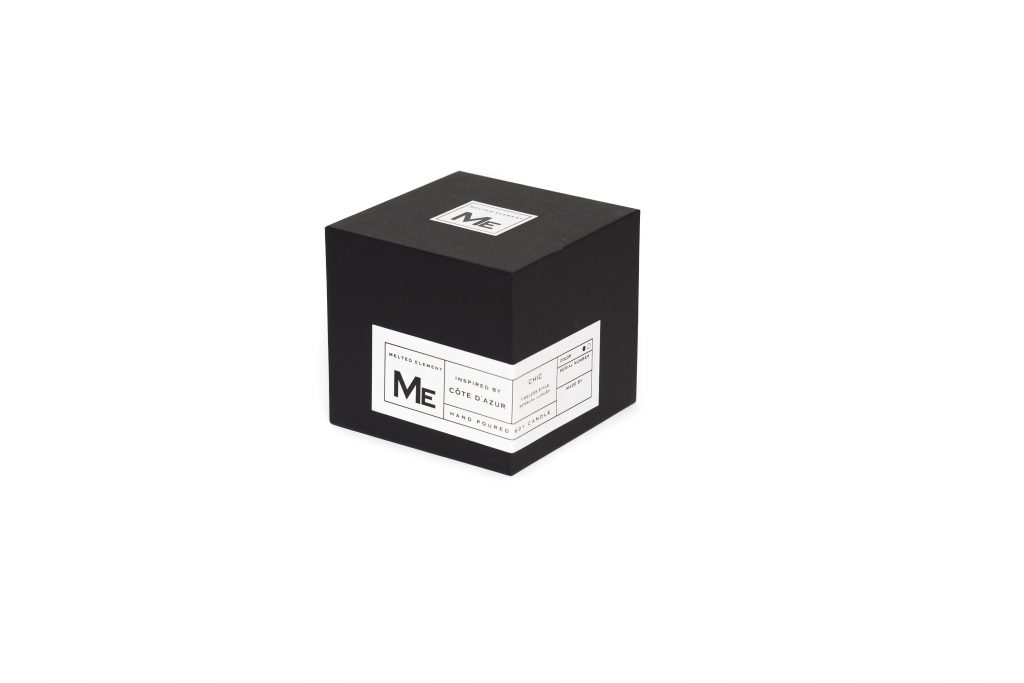 Melted Element Cote D Azur Premium Soy Candle Box 3 side